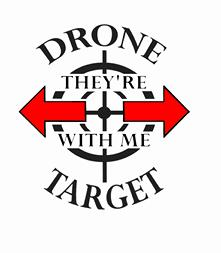 Drone Target gifts and T shirts, mugs, carry bags, beach bags